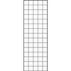 Treillage décoratif maille carrée (10cm), en acier - l. 50 x H. 150 cm