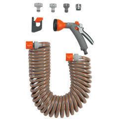 Flexible d'arrosage 10 m +accessoires de connexion, pistolet-arrosoir