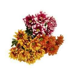 Botte de Chrysanthèmes unifleur - 3 tiges : coloris variables