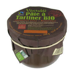 Pate tartiner bio chocolat noir noisettes 350g