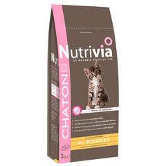 Croquettes chaton Nutrivia : 2 kg