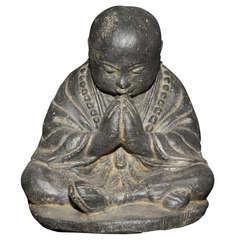 Statue moine assis H. 20 cm