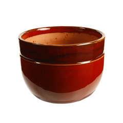 Pot Austral en terre cuite émaillée, coloris bois de santal Ø 16 cm