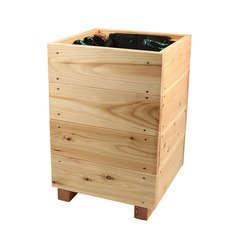 Bac carré City, en bois de mélèze certifié FSC® L. 36 x 36 x H. 50 cm