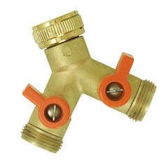 Nez de robinet laiton sélecteur 2 circuits Y MF20x27
