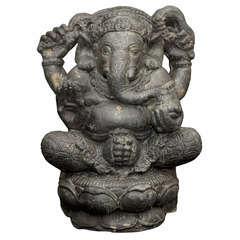 Statue du Dieu Ganesh assis H. 40 cm