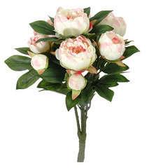 Bouquet pivoines mila,  rose clair 55 cm