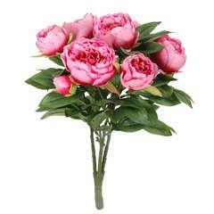 Bouquet pivoines mila,  rose foncé 56 cm