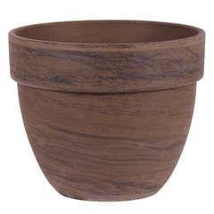 Pot rond Levante en terre cuite, basalt Ø 19 x H. 16 cm