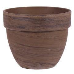 Pot rond Levante en terre cuite, basalt Ø 24 x H. 19 cm