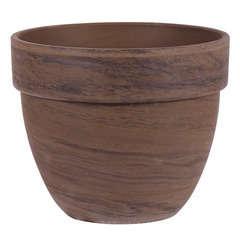 Pot rond Levante en terre cuite, basalt Ø 53 x H. 43 cm