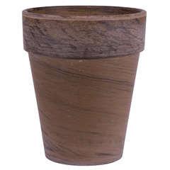 Pot rond XL en terre cuite, basalt Ø 26 x H. 31 cm