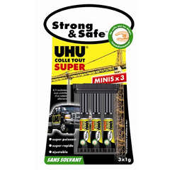 Colle Strong & Safe minis UHU - 3x1g