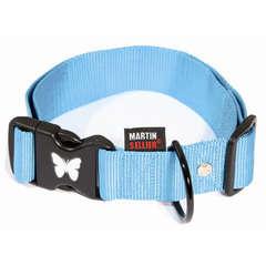 Collier pour chiens en nylon réglable 70 cm turquoise