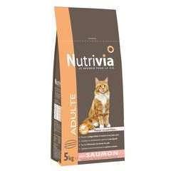 Croquettes chat Nutrivia au saumon : 5kg