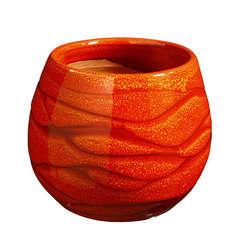 Pot Cancale en terre cuite émaillée, coloris soleil couchant Ø 14x14cm