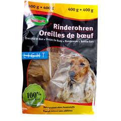 Friandise chien oreilles de bœuf : 400 g