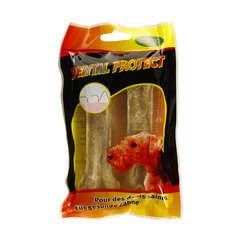 Friandise chien os à macher : 13 cm x2