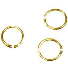 Sachet 100 anneaux ronds argentés, 5 mm