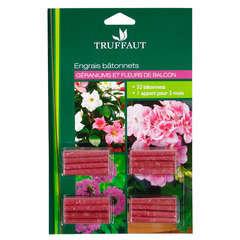 Engrais géraniums et fleurs de balcon : blister 32 bâtonnets