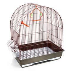 Cage Jojo en métal et plastique : Longueur 43 cm