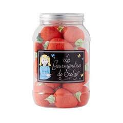 Guimauves Fraise, goût fraise - Bocal 450g