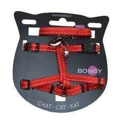Pack Safe pour chat : harnais et laisse nylon rouge