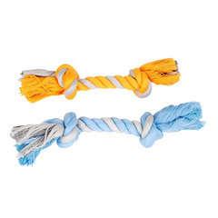 Jouet Corde 2 nœuds coton pour petit chien : très petit L19 cm