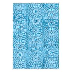 Feuille Décopatch 622 - Bleu avec motifs