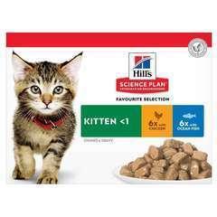 Sachet chaton multipack poulet et poisson 12 x 85g
