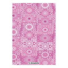 Feuille Décopatch 631 - Rose, avec motifs rosaces