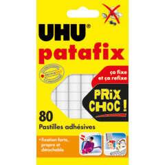 Pastilles blanches Patafix x80, repositionnables