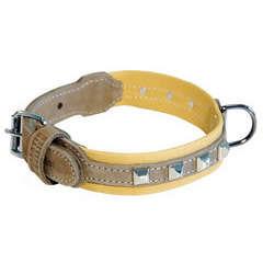 Collier Montana largeur 3cm et longueur 50cm marron/beige