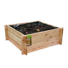 Carré potager en bois de mélèze brut certifié - L.80 x l.80 x H.30 cm