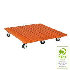 Roul'bac carré, en bois PEFC L. 60 x l. 60 cm