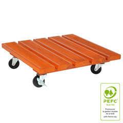 Roul'bac carré, en bois PEFC L. 40 x l. 40 cm