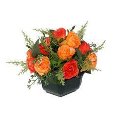 Coupe de mini roses assorties, 17xH20cm (1kg)