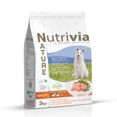 Nutrivia Nature Aliments complet pour chien au Poulet : 3kg