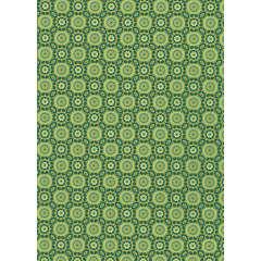 Feuille Décopatch 643 - Vert, motifs rosaces