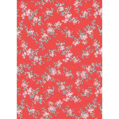 Feuille Décopatch 658 - Corail, motifs fleurs