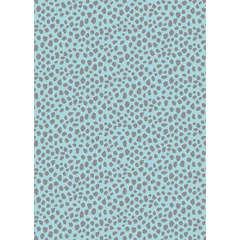 Feuille Décopatch 663 - Bleu clair à taches grises