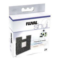 Plaquettes de mousse Fluval Shui II filtre d'aquarium : par 2