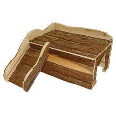 Maison en bois avec rampe pour lapin nain : L39xl50xh25 cm