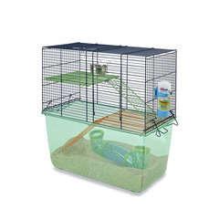 Cage pour gerbille : L52xl26xH52,5 cm Bleu