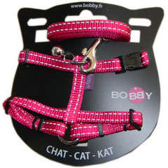 Pack harnais et laisse Safe pour chat : fuschia