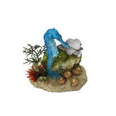 Décoration d'aquarium Hippocampe W plantes : L10,5xl6xH9 cm