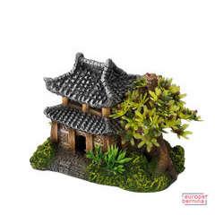 Décoration d'aquarium Maison Asiatique : L20xl17xH12 cm