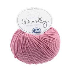 Laine Woolly 100% Merinos : rose 50g