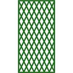 Treillage maille losange (6cm) en bois, vert - l.100 x H.197 cm
