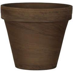Pot horticole en terre cuite, basalt Ø 22 x H. 19,3cm